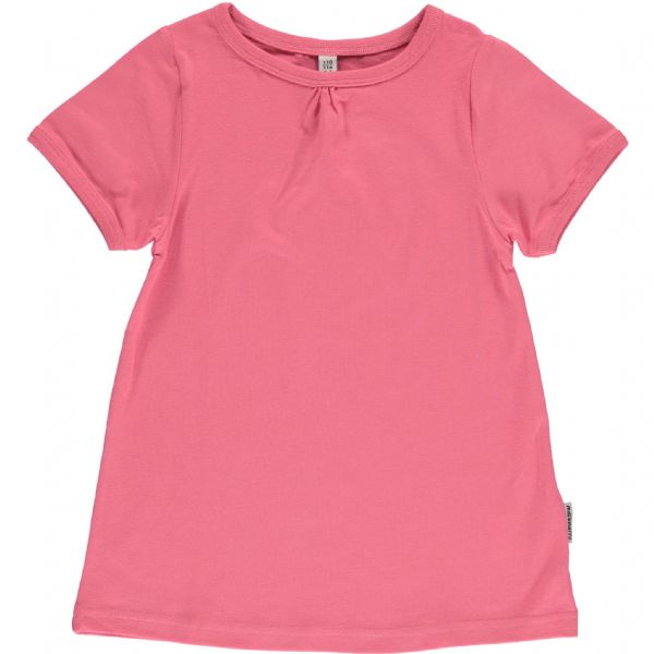 Maxomorra A-Line Short Sleeve Top Rose Pink